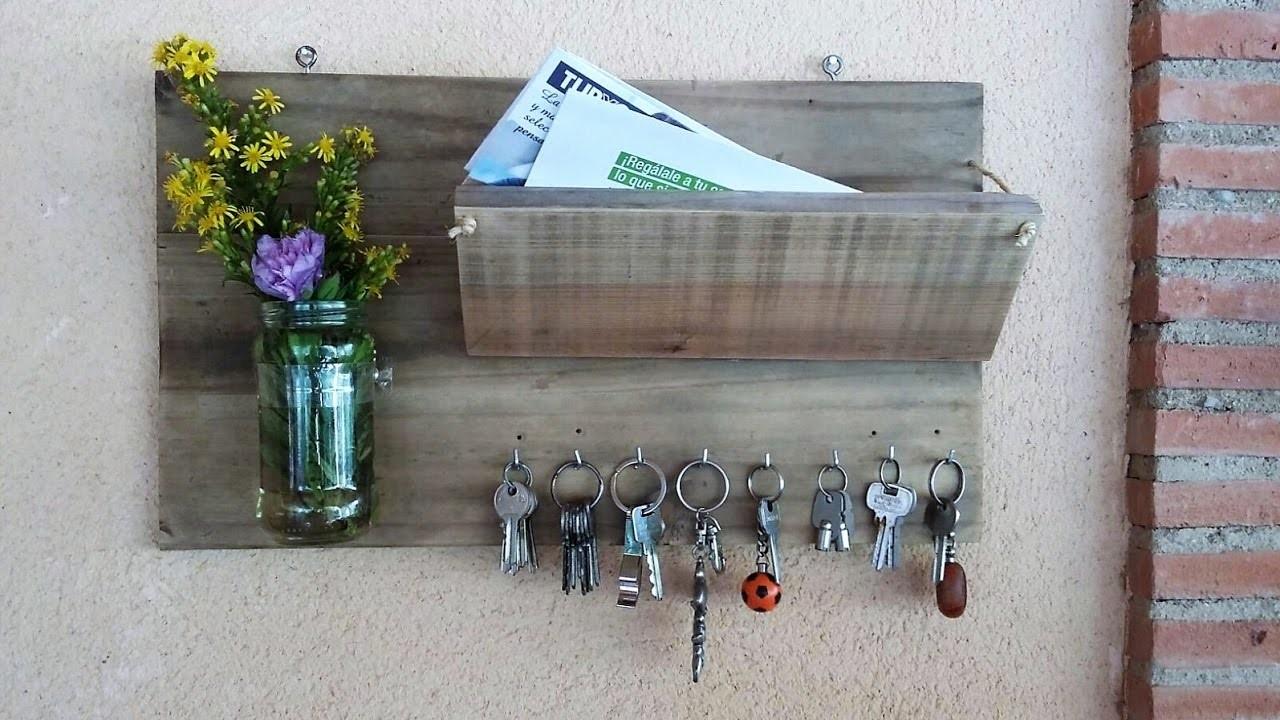 Manualidades Con Madera Reciclada Portasobres Y Portallaves  ~ Manualidades De Madera Reciclada