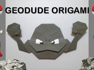 Origami de papel GEODUDE paso a paso