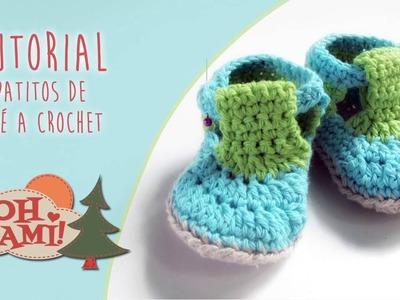 Tutorial zapatitos de bebé a crochet