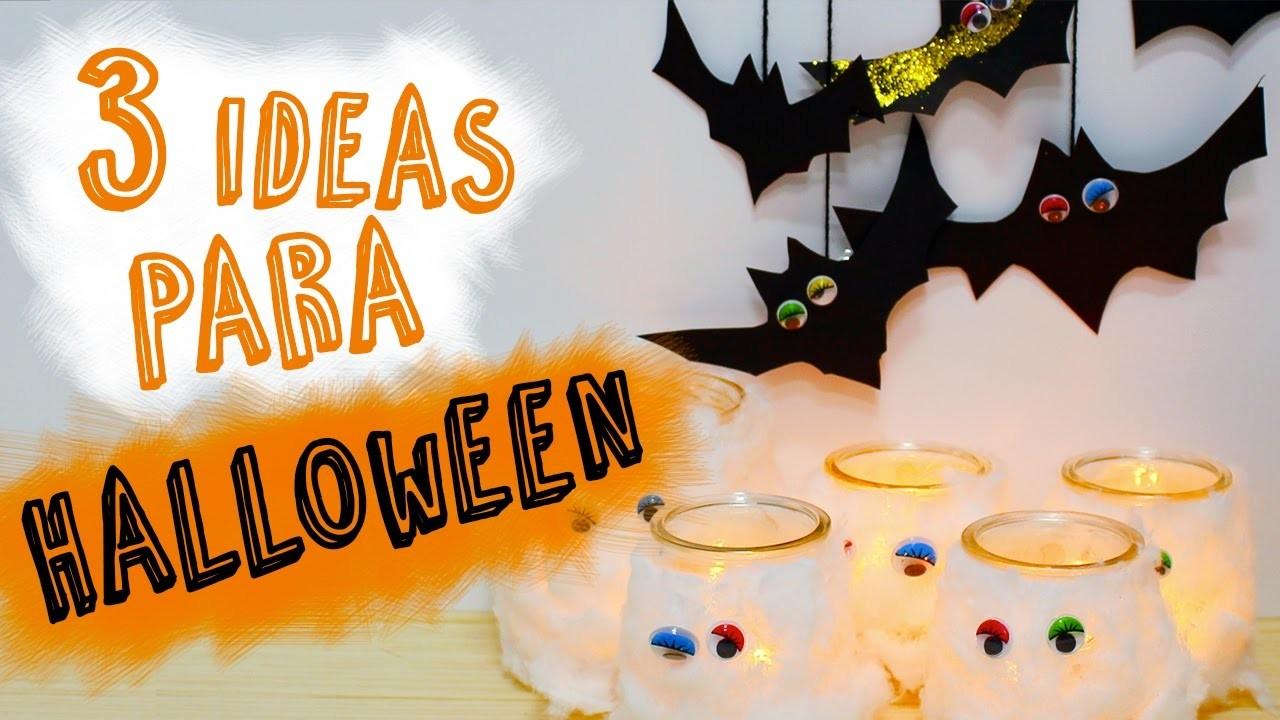3 Ideas de Manualidades para Halloween | DIY Halloween