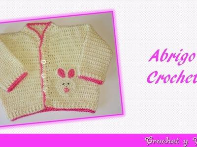 Abrigo unisex tejido a crochet para bebés - Parte 2 de 2
