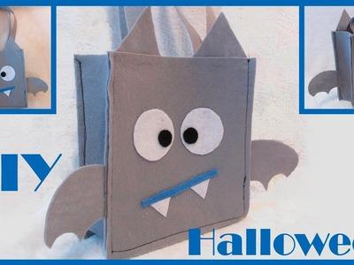 Bolsa de caramelos en forma de murciélago para Halloween   DIY   J&R