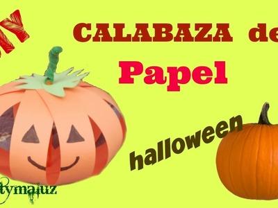 CALABAZA de HALLOWEEN CALABAZA DE PAPEL | Manualidades para niños