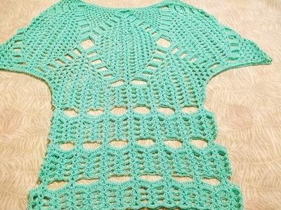 Capa ó blusa en crochet (ganchillo)Parte 1