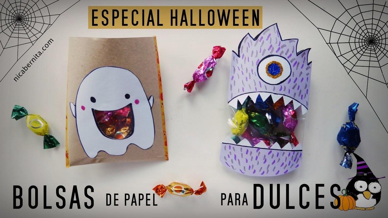 C mo hacer bolsas de papel para dulces manualidades - Como hacer manualidades faciles para ninos ...
