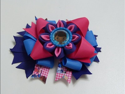 Como hacer moños y flores faciles listón, DIY, Ribbon Hair Bow Tutorial