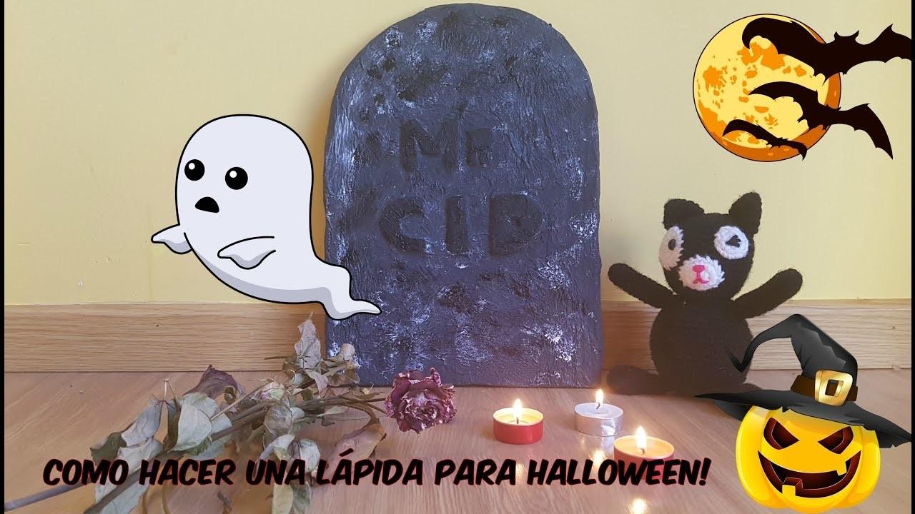 Como hacer una lápida. DIY. Halloween