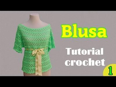 Como tejer una blusa amplia a crochet (1.2)