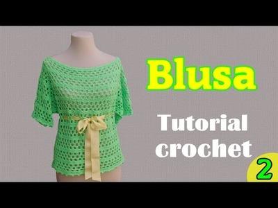 Como tejer una blusa amplia a crochet (2.2)