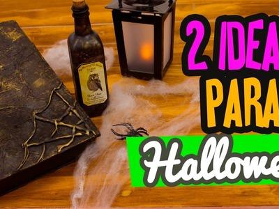 Decoraciones para Halloween 2 Ideas fáciles | Libro de Hechizos y Pócima | Manualidades | Catwalk
