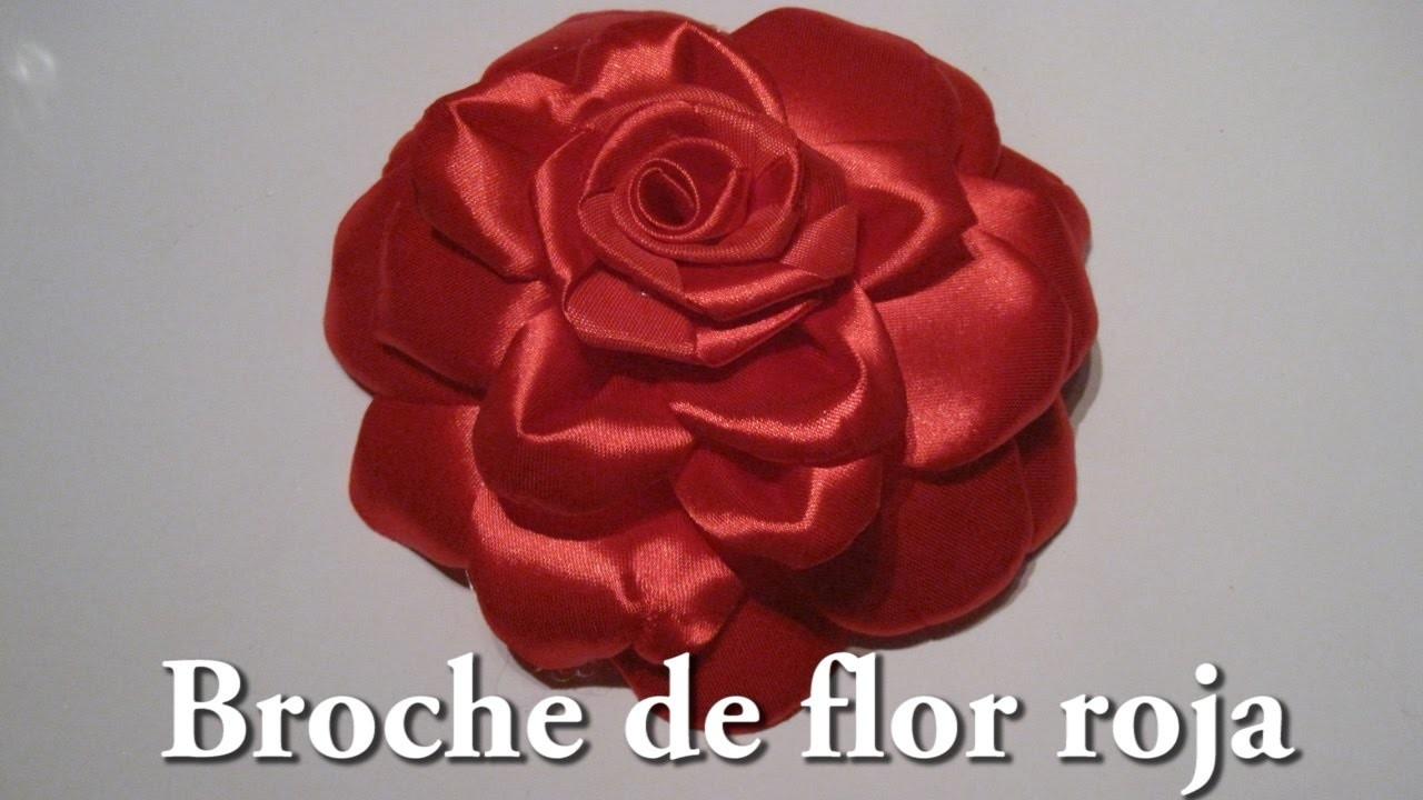 #DIY -#Broche de flor roja