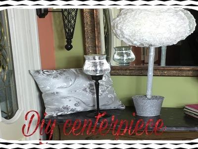 DIY white roses floral arrangement- centro de mesa blanco
