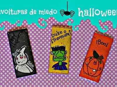 ENVOLTURAS PARA CHOCOLATES.manualidades halloween.diy