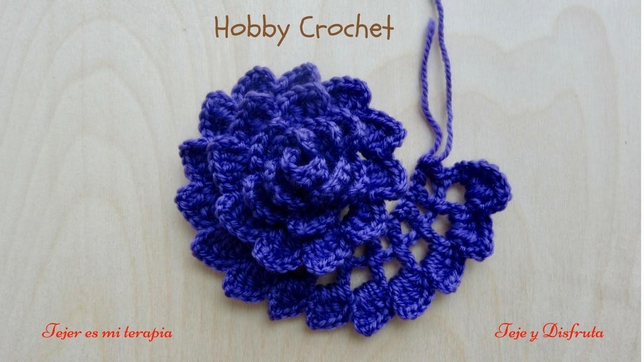 Flor a crochet n 6 - Cosas para hacer de ganchillo ...