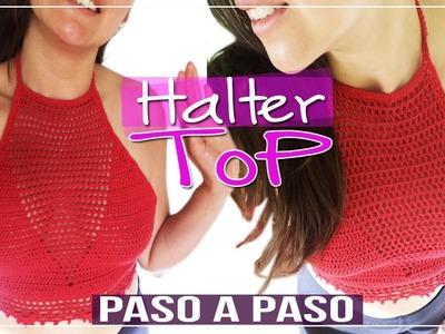 Halter Top - Tejido En Crochet Paso a paso - Parte 2 de 2