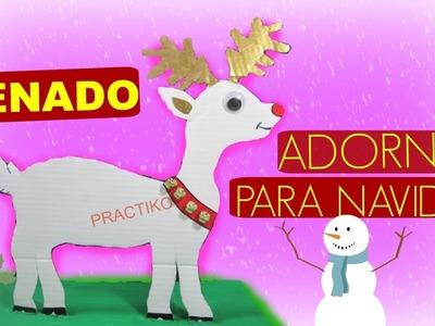 MANUALIDADES DE NAVIDAD EL RENO DE SANTA CLAUS - PRACTIKO