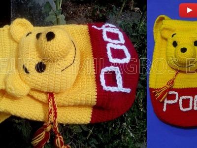 Mochila o Morral de WINNIE POOH tejido a crochet o ganchillo PARTE 2