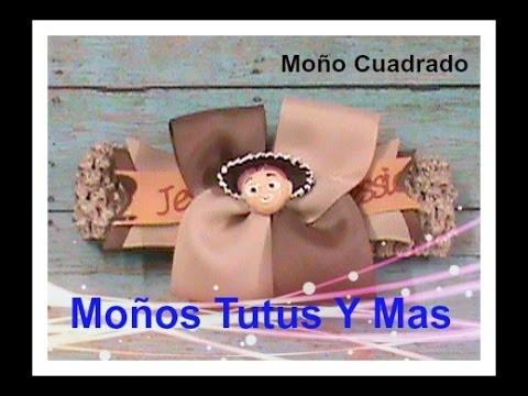 MOñO CUADRADO COMBINADO Paso a Paso 2-COLOR SQUARE BOW Tutorial DIY How To PAP