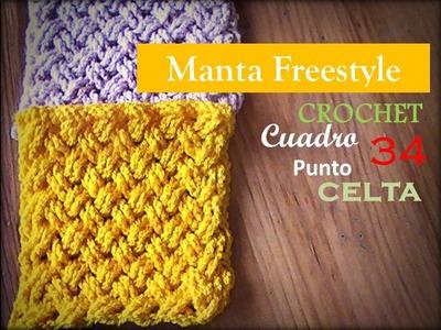 PUNTO CELTA a crochet - cuadro 34 manta FREESTYLE (Diestro)