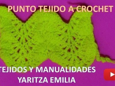 Punto  tejido a crochet para bufandas y cobijas de bebe
