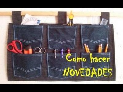 RX: DIY Organizador Jeans de pared sin cortar pantalones (házlo con material reciclado)