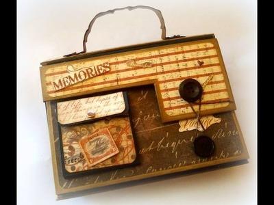 Álbum Maleta Vintage Scrapbooking