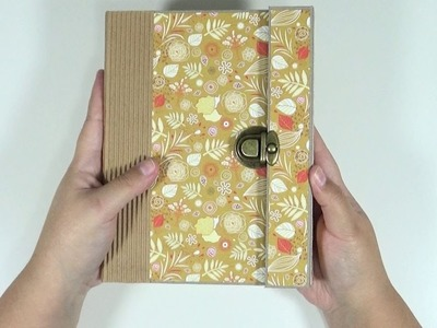 Álbum Scrapbook con cierre metálico y solapa #1 | Estructura y cierre | Mundoaparty