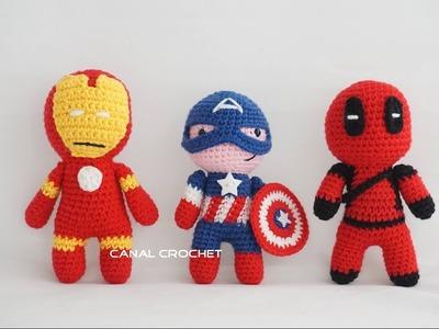 Capitán América amigurumi tutorial