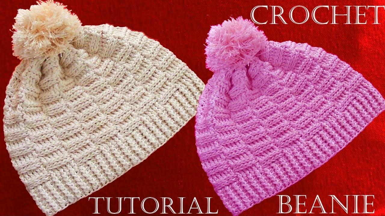 Como hacer gorros a crochet crochet beanie tutorial my - Como hacer colcha de ganchillo ...