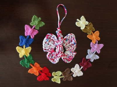 Como hacer preciosas mariposas de colores encadenadas en crochet.