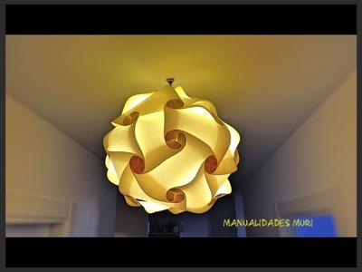 Cómo hacer una Lampara Colgante de Papel, Origami Art. Imprimir