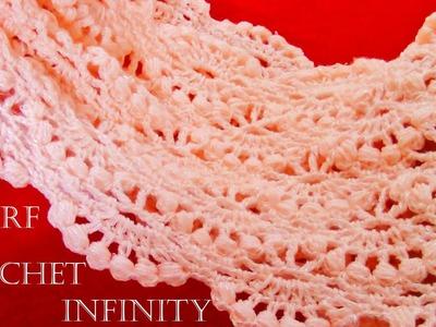 Como tejer bufanda infinita circular tubular fácil en puntos originales - Knit scarf infinity