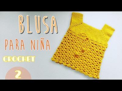 Como tejer una blusa para niña (2.2)