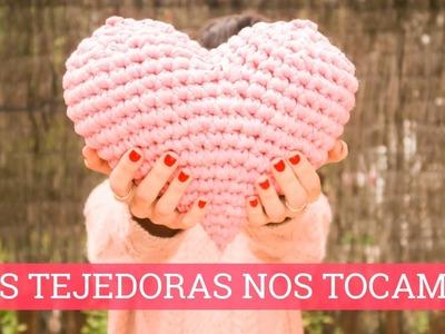 Corazón de trapillo   #LasTejedorasNosTocamos contra el cancer de mama