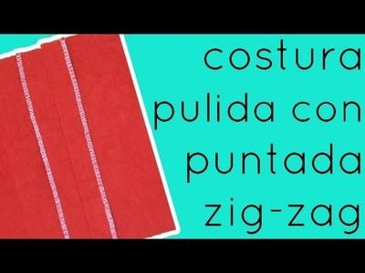 Costura con orillos acabados con punto zig zag
