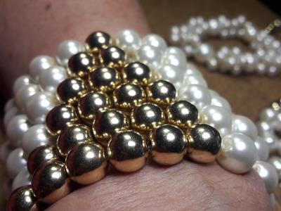Elegante Pulsera de Perlas. Clase #9!!!