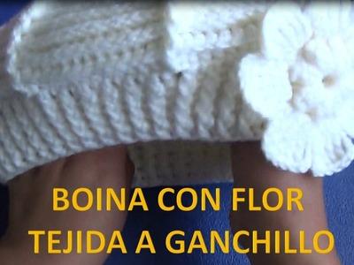 Flor tejida a ganchillo # 12 paso a paso para Boina