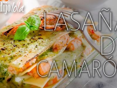 Lasaña de camarón en salsa pesto + Elección de vino | A comer y a
