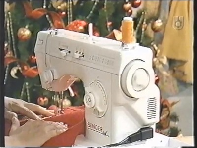 Puntos y Puntadas 413. Imitación punto Overlock en una máquina de coser familiar.