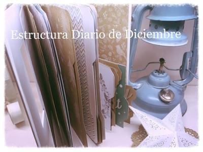 Scrap diario de diciembre, December Daily estructura