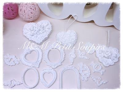 Scrapbooking, Piezas decorativas con yeso dental