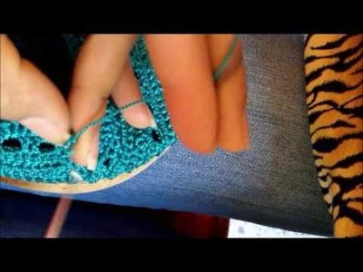 Zapato tejido parte 2.2
