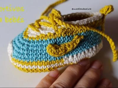 Aprende a tejer estos deportivos de bebé paso a paso I PARTE 2.2  cucaditasdesaluta
