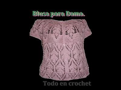 Blusa para Dama, continuación de cuello parte 4 de 4. blouse for women below the neck part 4 of 4