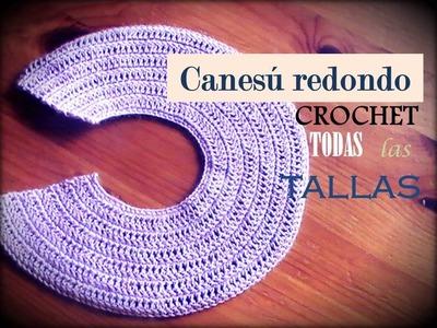 Canesú REDONDO a crochet: como tejerlo en TODAS LAS TALLAS (zurdo)