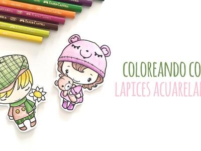 Cómo colorear con lápices acuarelables - TUTORIAL Scrapbook