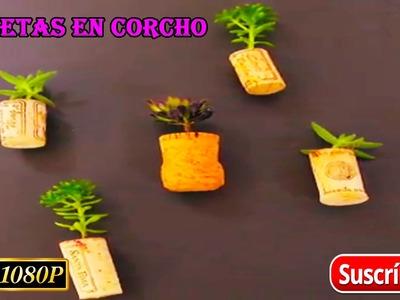 COMO HACER MACETAS EN CORCHOS!! - reciclar corchos:)
