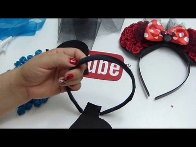 Como hacer una diadema de Minnie Mouse, video 548, Easy Hair Bow
