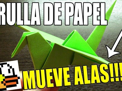 Como hacer una GRULLA DE PAPEL que MUEVE LAS ALAS Super Cool | Origami fácil