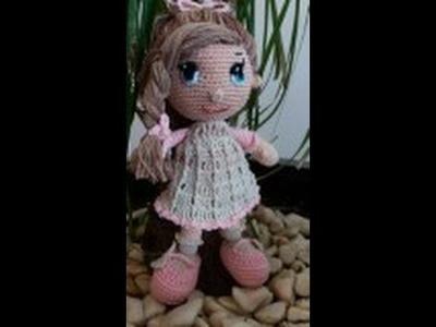 Como tejer muñeca Dolly amigurumi 3a. PARTE